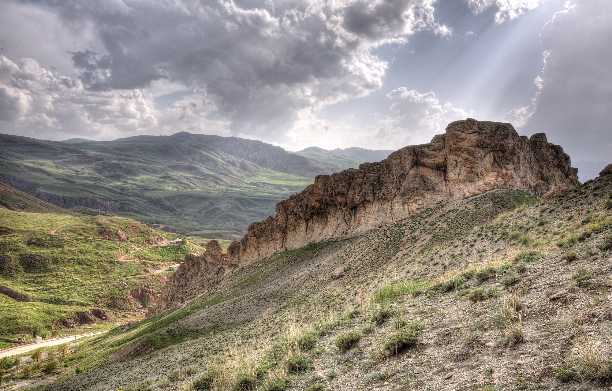 Mountain rock steppe in Ishak Pasha environs